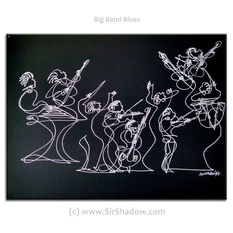~Big Band Blues - Drawing Archive