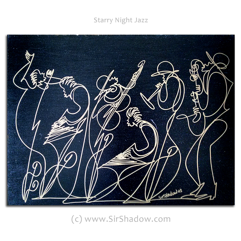 Starry Night Jazz - Drawings Archive