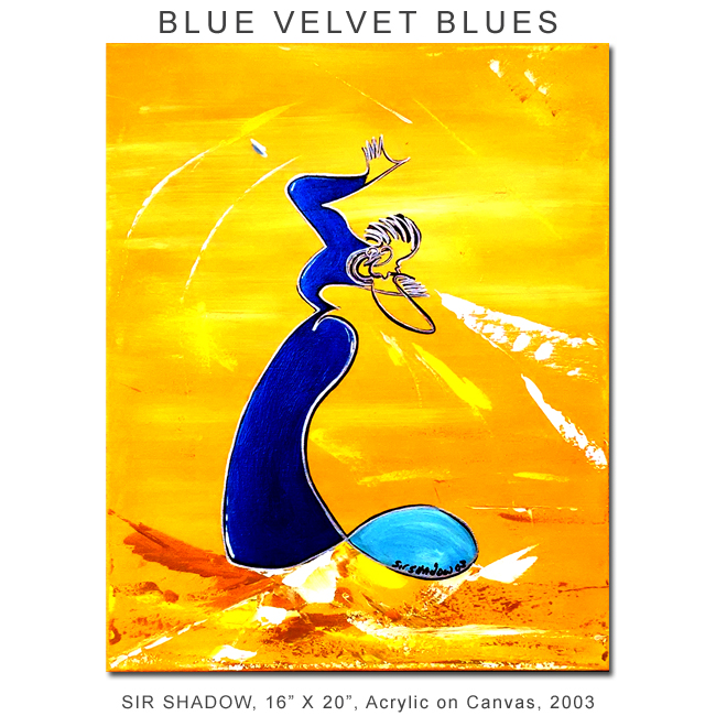 ~Blue Velvet Blues - Painting Archive