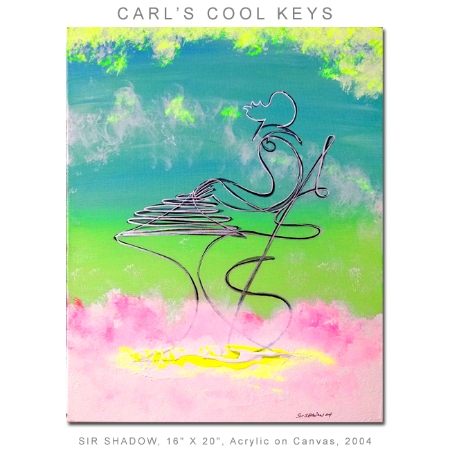 ~Carl's Cool Keys (Shadows in the Sky) - Painting Archive