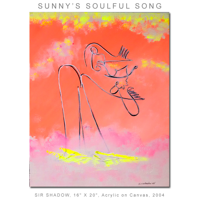 ~Sunny's Soulful Song (Shadows in the Sky) - Painting Archive