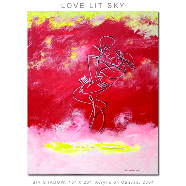 ~Love Lit Sky (Shadows in the Sky) - Painting Archive